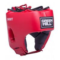 Шлем открытый детский orbit hgo-4030 кожзам красный