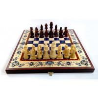 Шахматы 3 в 1 гжель