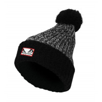 Шапка bad boy fleece bobble beanie - black