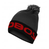 Шапка bad boy bobble beanie - grey/red