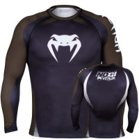 Рашгард VENUM NO GI IBJJF APPROVED - LONG SLEEVES - BLACKBROWN