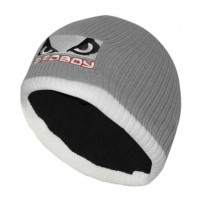 Bad Boy Ribbed Beanie - Grey