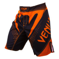 Шорты VENUM HURRICANE FIGHT SHORTS - BLACKNEO ORANGE