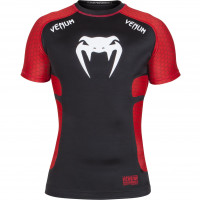 Рашгард VENUM ABSOLUTE - BLACK/RED - SHORT SLEEVES