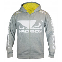 Толстовка Bad Boy Walk In 2.0 Hoodie - Grey/Yellow