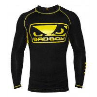 Рашгард Bad Boy Honour Rash Guard - L/S - Black/Yellow