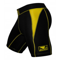 Bad Boy Honour Compression Shorts - Black/Yellow