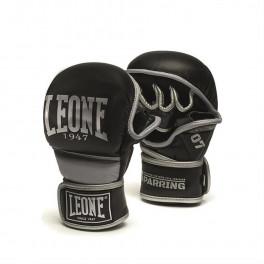 Тренировочные перчатки leone 1947 sparring black silver