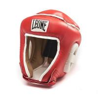 Шлем боксерский leone combat cs410 red white