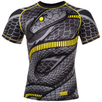 Рашгард venum snaker - short sleeves - black/yellow