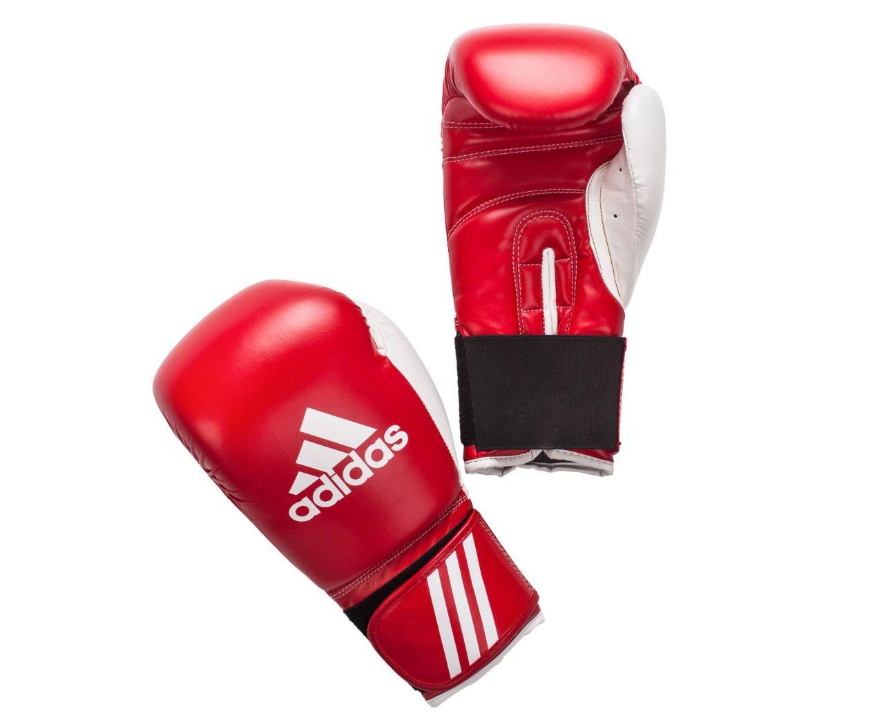 Перчатки боксерские adidas response красно-белые adibto1