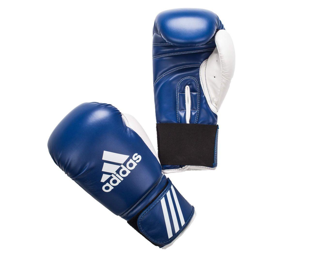 Перчатки боксерские adidas response adibt0 white blue