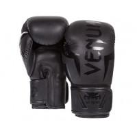 Перчатки боксерские venum elite boxing gloves - black