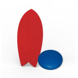 Баланс борд elements shortboard colors красный с надувным диском