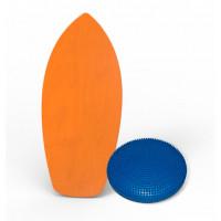 Баланс борд elements surf colors оранжевый с надувным диском