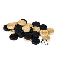 Комплект фишек для нард и шашек дерево, 20-25 мм