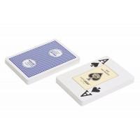 """Карты """"2818 Casino Europe"""", 100% пластик, синяя рубашка"""