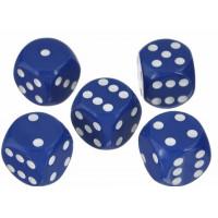 Кости игральные пластиковые, 20мм, 1 шт, цвет синий