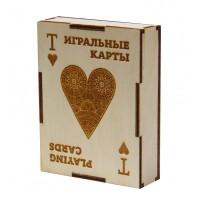 """Подарочная коробка для хранения игральных карт """"Червовая масть"""" Эко"""