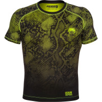 Рашгард Venum Fusion - Black Yellow Short Sleeves
