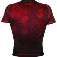 Рашгард Venum Fusion - Black Red Short Sleeves
