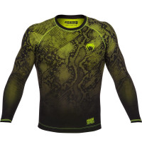 Рашгард Venum Fusion - long sleeve - black/yellow