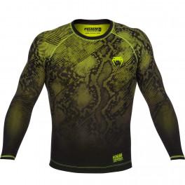 Компрессионная футболка Venum Fusion - long sleeve - blackyellow