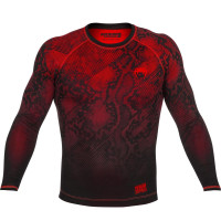 Рашгард Venum Fusion - long sleeve - black/red