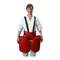 Комплект защиты leosport лоу кик кожа красный