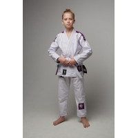 Детское gi bjj lion pro 3.0- white purple
