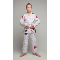 Детское gi bjj lion pro 3.0- white red