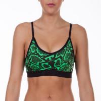 Женский поддерживающий топ с чашками venum fusion x-top - green