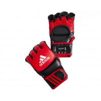 Перчатки для ММА Ultimate Fight красно-черные adiCSG041