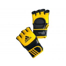 Перчатки для ММА Ultimate Fight желто-черные adiCSG041