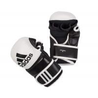 Перчатки для ММА Hybrid Training Leather черно-белые