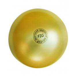 Мяч для художественной гимнастики АВ2801, 19 см, 400 г, золотой