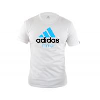 Футболка Community T-Shirt MMA бело-синяя adiCTMMA