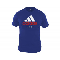 Футболка Community T-Shirt Judo сине-белая adiCTJ