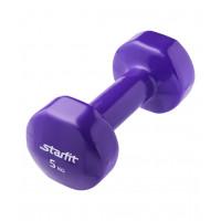 Гантель виниловая DB-101 5 кг, фиолетовая