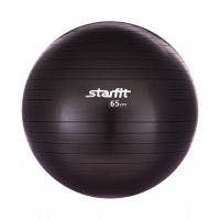 Мяч гимнастический GB-101 65 см, антивзрыв, черный