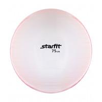 Мяч гимнастический GB-105 75 см, прозрачный, розовый