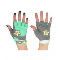 Перчатки для фитнеса SU-112, серые/мятные/желтые