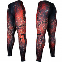 Штаны компрессионные btoperform fy-107r grunge red