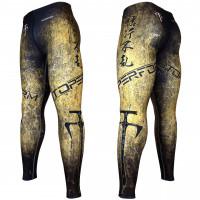 Штаны компрессионные btoperform fy-107y grunge - yellow
