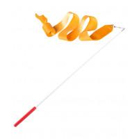 Лента для художественной гимнастики AGR-201 6м, с палочкой 56 см, оранжевый