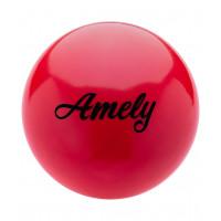 Мяч для художественной гимнастики AGB-101 19 см, красный