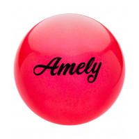 Мяч для художественной гимнастики AGB-102, 15 см, красный, с блестками
