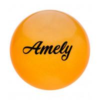 Мяч для художественной гимнастики AGB-102, 15 см, оранжевый, с блестками