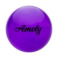 Мяч для художественной гимнастики AGB-102, 19 см, фиолетовый, с блестками