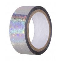 Скотч-лента для художественной гимнастики AGS-301 20 мм*15 м, серебряный